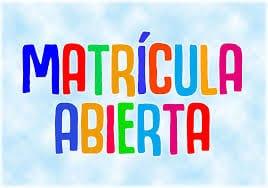 Matrícula 2020-21 Centro Sancho Panza 4-5 años